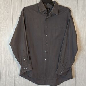 ☕ EUC Calvin Klein gray button up shirt sz L